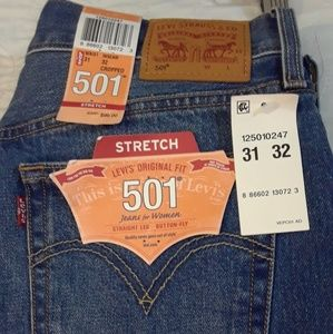 NWT 31X32 LEVIS 501XX CROPPED VINTAGE